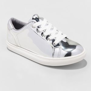 Cat & Jack Frances Silver Sneakers Tennis Shoes